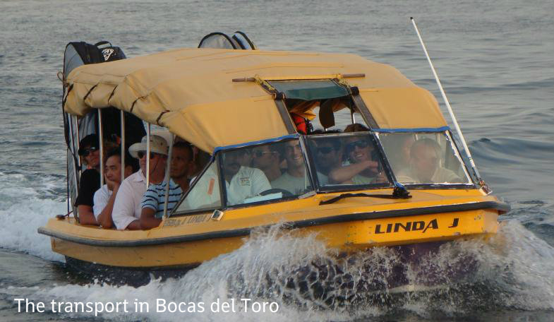 transport bocas del toro - surf guide