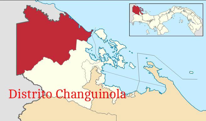 changuinola distrito mapa