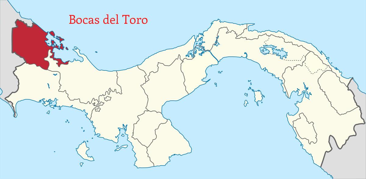 mapa distrito bocas del toro
